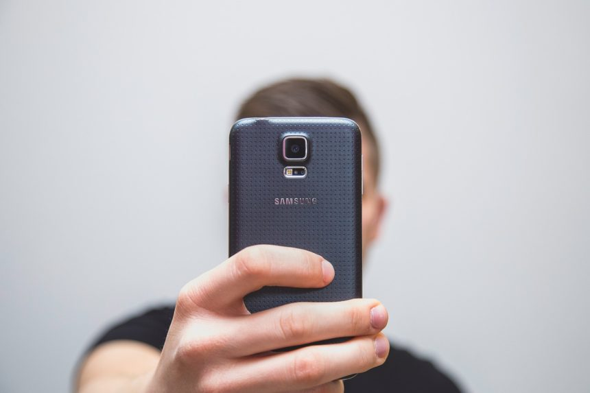 A man taking selfie