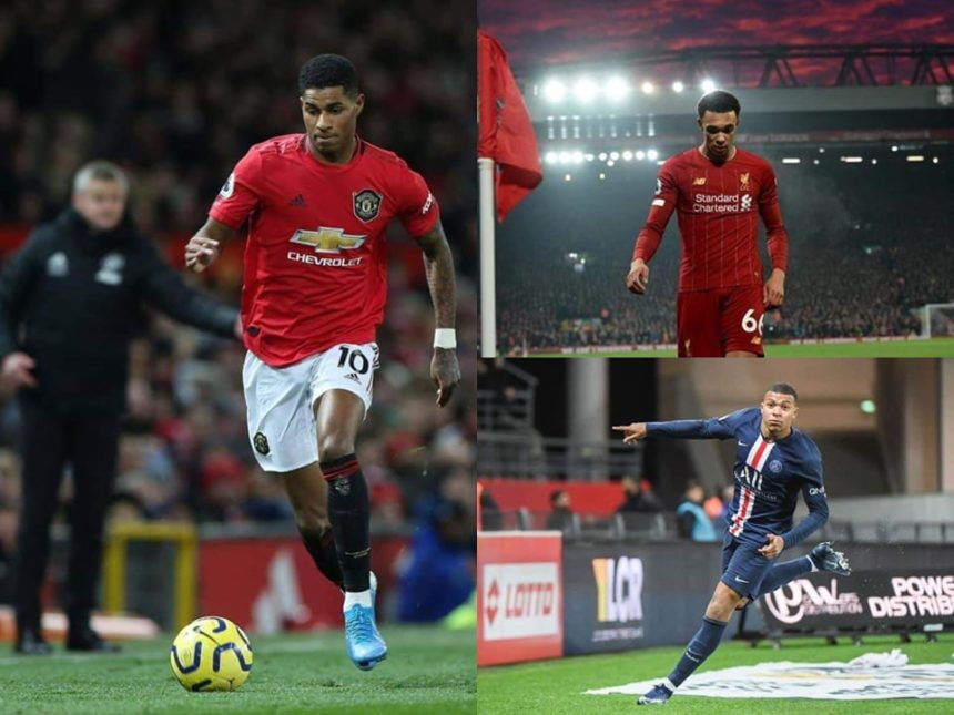The spectacular youth footballers, 2020: Kylian Mbappe, Marcus Rashford, Trent Alexander Arnold 1
